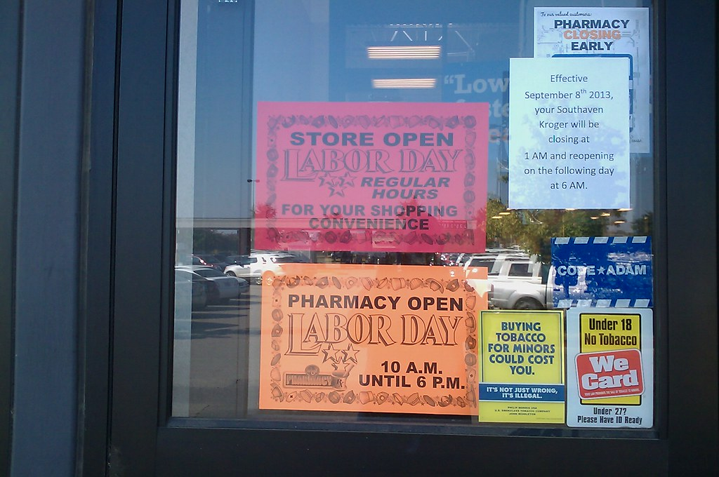 Signs of Labor Day weekend 2013 at Kroger (Southaven MS) Flickr