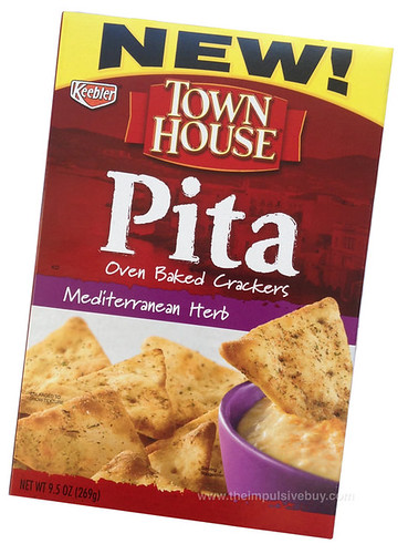 Keebler Town House Mediterranean Herb Pita Oven Baked Crackers
