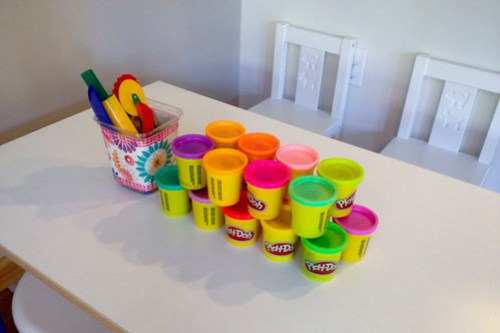 Art party station play-doh