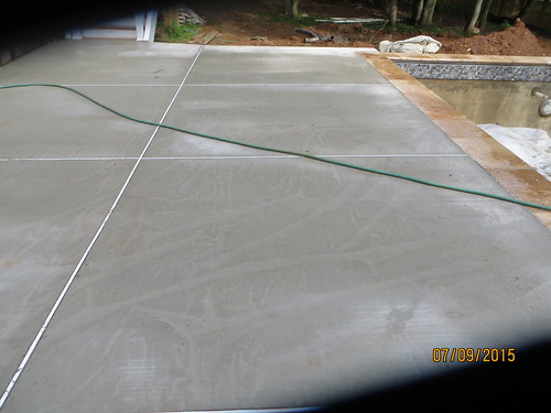 Rain Impacted Brushed Concrete Finish Can It Be Fixed