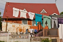Laundry drying old-school in Strathcona