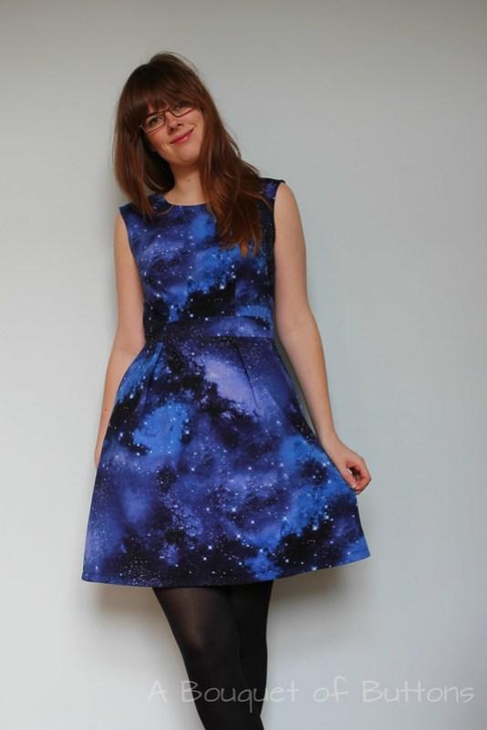 Galaxy, Dress, Jurk, Belladone, Deer & Doe, Timeless Treasures