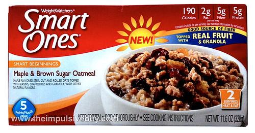 Weight Watchers Smart Ones Smart Beginnings Maple & Brown Sugar Oatmeal