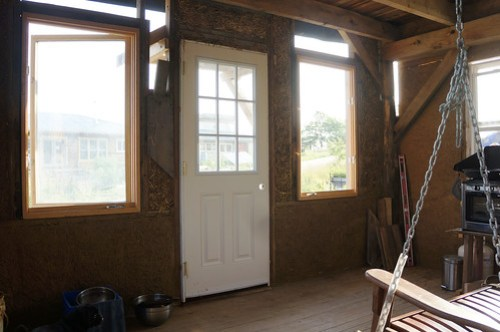 Straw Bale House Porch Interior