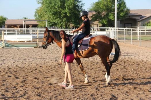 A morning lesson at Kerivan Farms