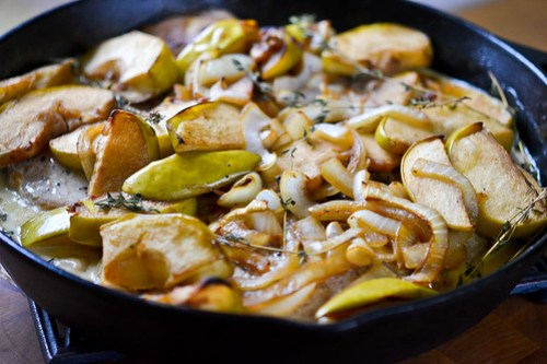 Skillet Pork Chops with Apples & Onions-6