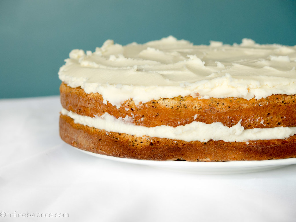 Poppy Seed Cake with Cream Cheese Frosting