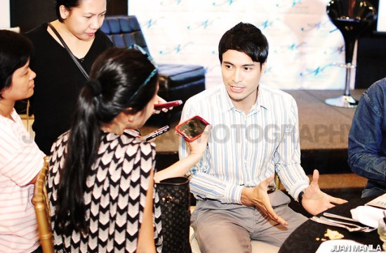 Rafael Rosell during the press conference for Blaise Skin Care.