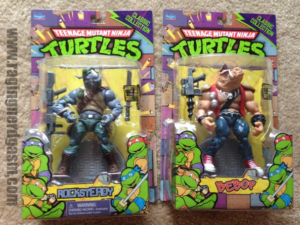 Playmates TMNT Teenage Mutant Ninja Turtle Classics Collection Toys R Us Exclusive Rockstedy and Bebop