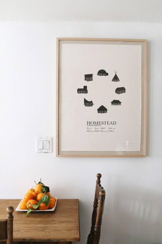 homestead print and mandarins