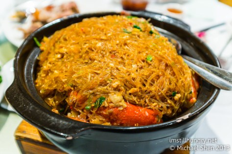 Crab noodles iron chef