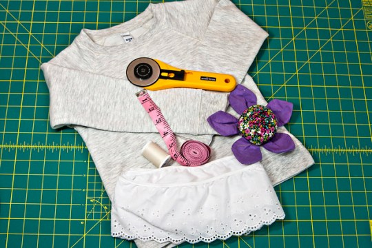 DIY Gap-Inspired Eyelet-Trimmed Top