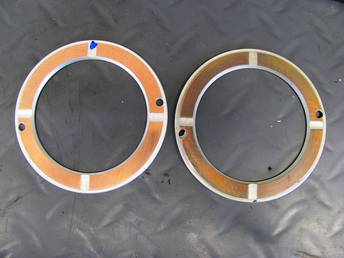 New Thrust Washer (Left) and Damaged (Right)