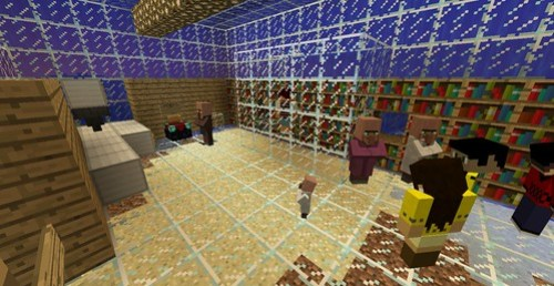 Eric's photo of his group's hidden Minecraft poison library