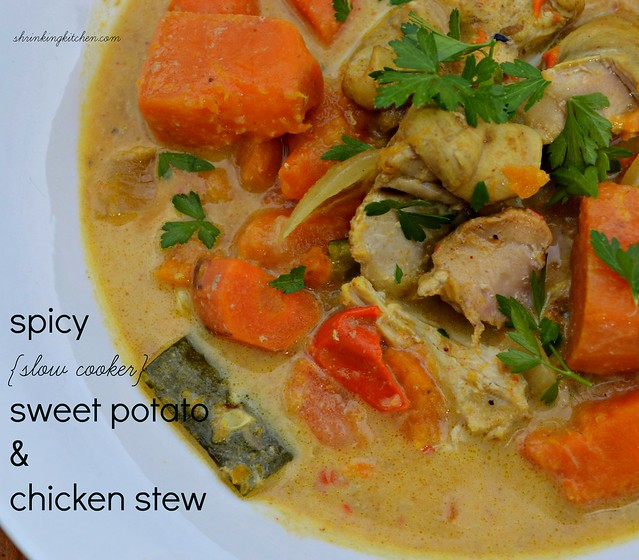 Wednesday: Spicy Slow Cooker Sweet Potato and Chicken Stew