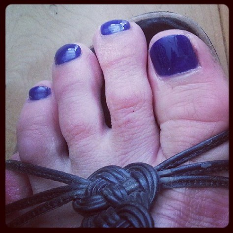 And they did what they could with my toes @poppyhair #miracles #beauty #glvsprucesup