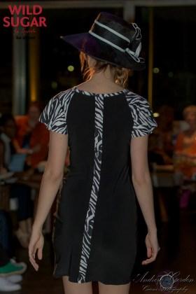 Solstice Dress   Black + Zebra.