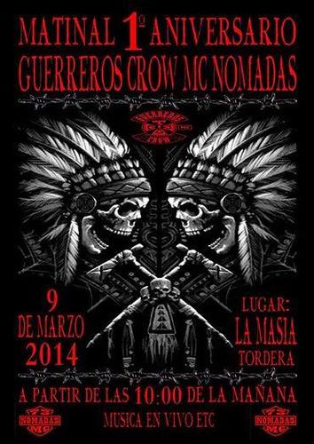 Matinal 1er. Aniv. Guerreros Crow Nomadas-Tordera