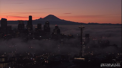Seattle sunrise by morganpalmerweather