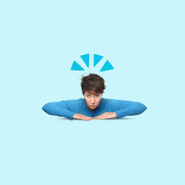 Emoji blue Girl