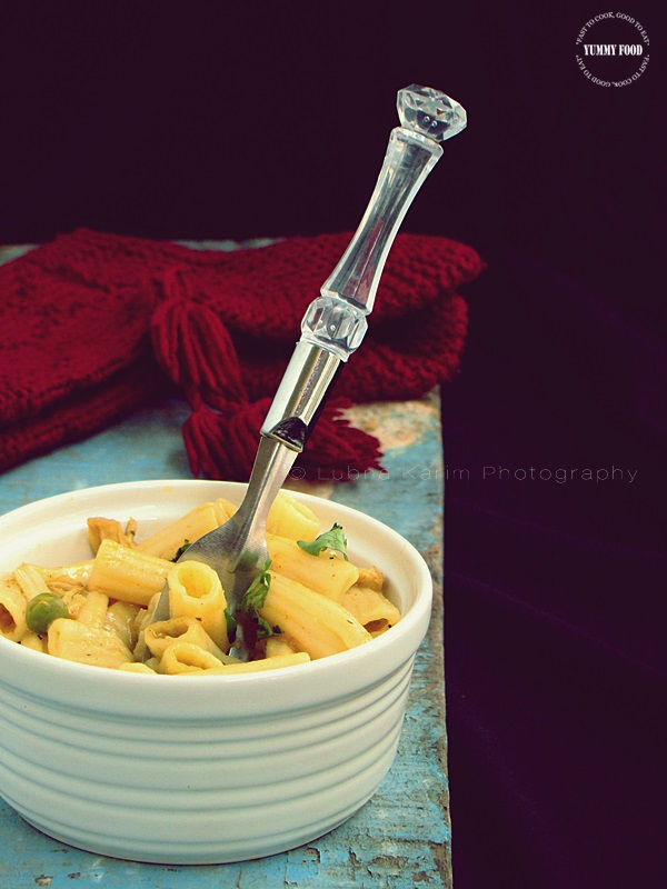 Penne with Chicken and Peas