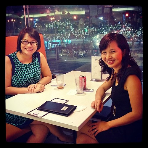 Catching up with Jean - talking blogging, parenting, social media, careers, education, food, and Singapore.   Great seeing you again! :)