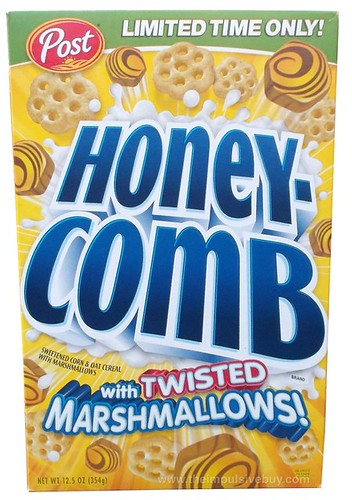 Post Limited Edition Honeycomb with Twisted Marshmallows Cereal