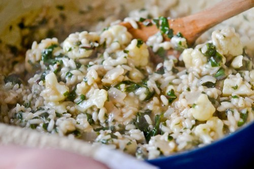 Cauliflower, Onion and Greens Risotto-6