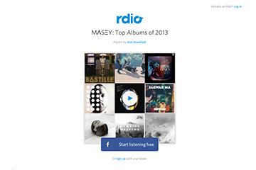 Rdio Top 5 Albums of 2013 Playlist
