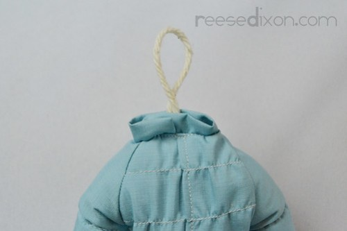 Puffy Coat Ornament Tutorial Step 10