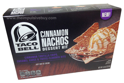 Taco Bell Cinnamon Nachos Dessert Kit