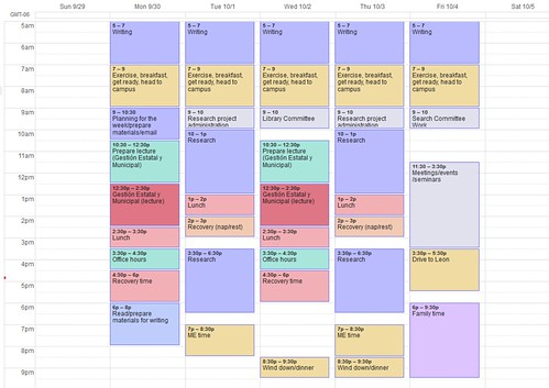 Scheduling my academic life to the very minute My weekly template - unit organizer routine template