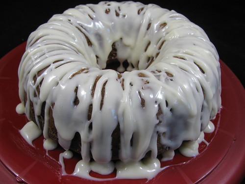 Pumpkin Bundt Cake with Bourbon Glaze
