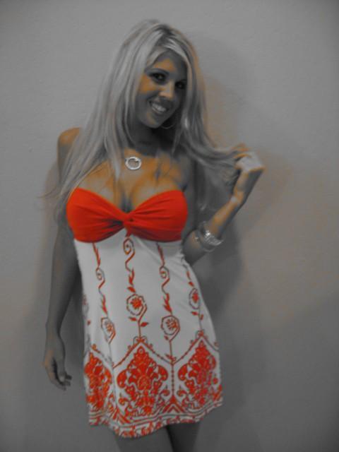Erica chevillar orange bikini