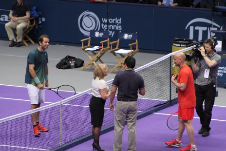 Pete Sampras, Elaine Paige and Andre Agassi