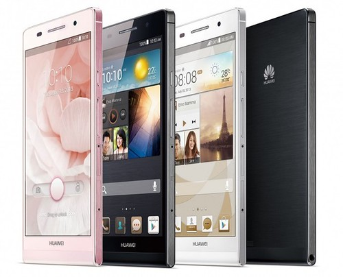 Huawei Ascend P6: Smartphone Ultradelgado Similar al iPhone
