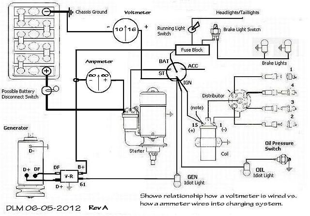 12 volt one wire alternator wiring diagram