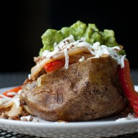 Pork Fajita Loaded Baked Potato