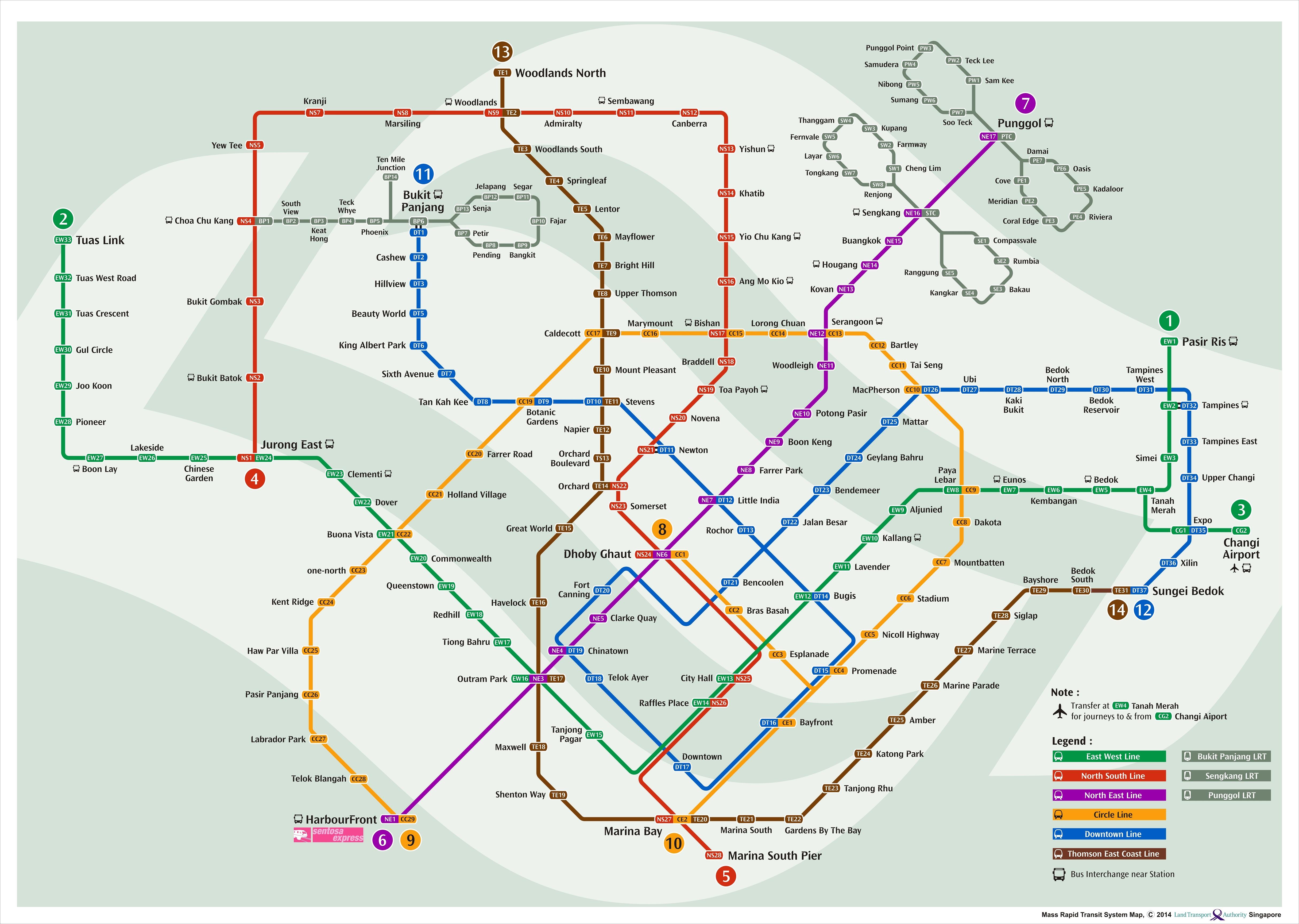 Singapore Future Mrt Lrt Map August 2014 Blog