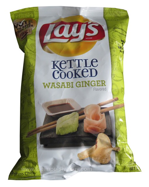 Lay's Kettle Cooked Wasabi Ginger Potato Chips