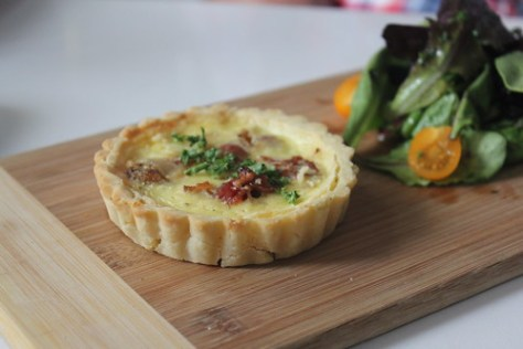 Blue Cheese Bacon and Smoked Onion Tart