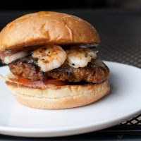 Chorizo and Garlic Shrimp Burgers