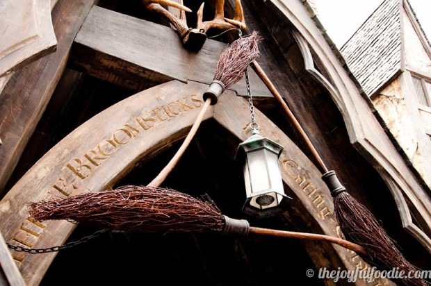 Three Broomsticks Sign