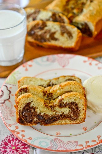 Chocolate Sweet Cream Marble Loaf-10