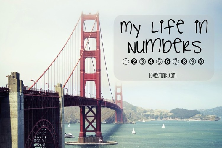 my life in numbers