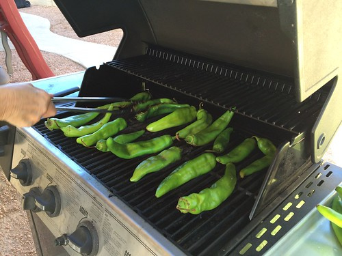 Hatch chile roasting party