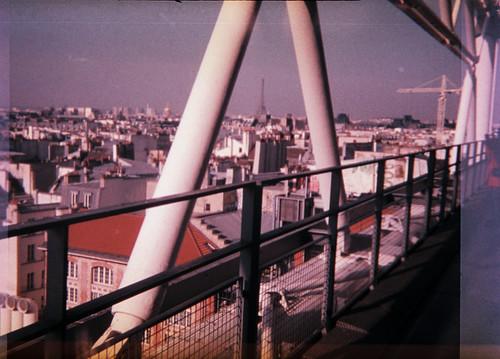 Tour Eiffel vue du 5e étage du Centre Pompidou