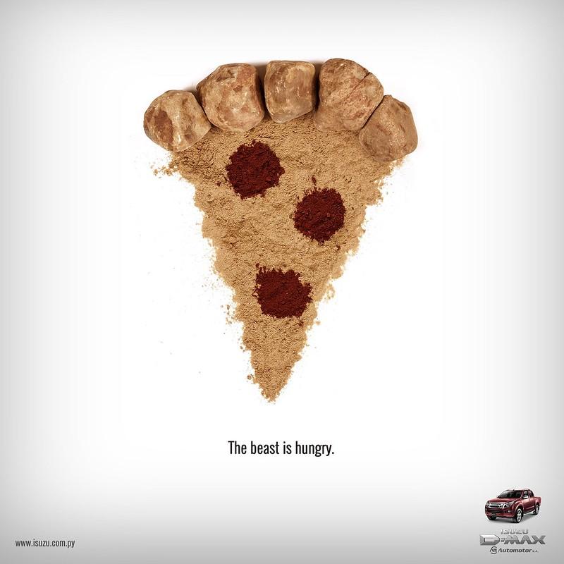 Isuzu - The Beast is Angry Pizza