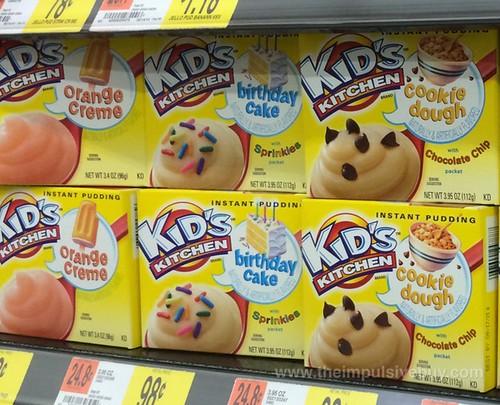 Kid's Kitchen Instant Pudding (Orange Creme, Birthday Cake, Cookie Dough)