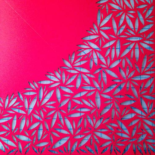 Work in progress paper cut - detail